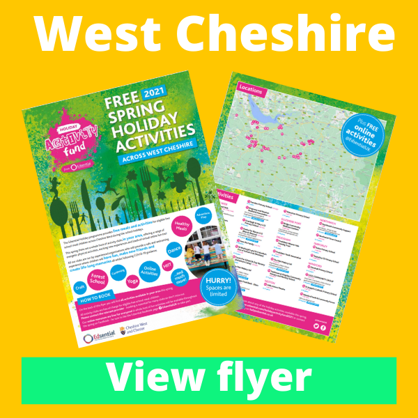 View West Cheshire HAF Flyer...
