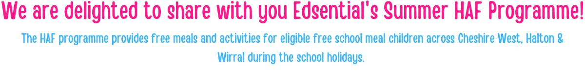 Edsential's HAF Summer Programme